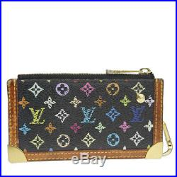 Auth Louis Vuitton Monogram Multicolore Pochette Kure M92654 Key Chain M 01FA481