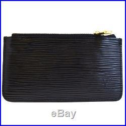 Auth Louis Vuitton Pochette Clef Coin Case Key Chain Epi Leather M63802 02EF825