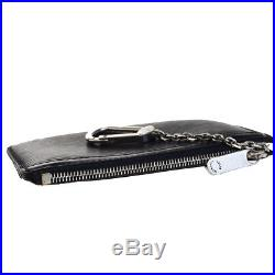 Auth Louis Vuitton Pochette Clef NM Coin Case Key Chain Epi Black M66602 09EC594