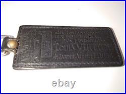 Auth Louis Vuitton Porte Cles Fortune Silver Black Bag Charm Key Ring Key Chain