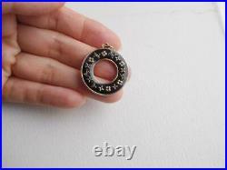 Auth Louis Vuitton vintage Black charm parts Key Ring Bag Charm Key Chain