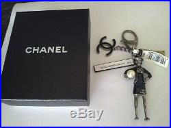 Auth. Nwt 12a Chanel CC Logo Bag Charm, Key Holder Doll With Pearl Limited Ed