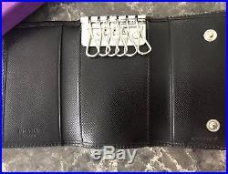 Auth Prada Saffiano Leather Keyholder Unisex