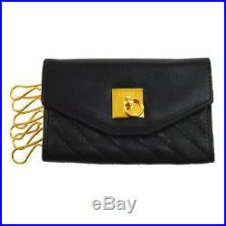 Authentic CELINE Logos Key Case Six Hooks Black Vintage AK30583b