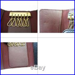 Authentic CHANEL Classic Key Holder Case Caviar Leather Black Vintage