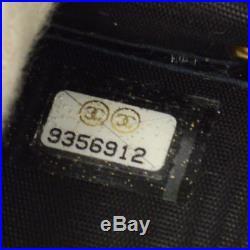 Authentic CHANEL Vintage CC Logos Six Hooks Key Case Black Caviar Skin AK22177