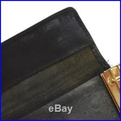 Authentic CHANEL Vintage CC Logos Six Hooks Key Case Black Caviar Skin M13520j