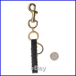 Authentic Christian Dior Black Calfskin Leather J'ADIOR Key Ring Chain Gold HW