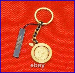 Authentic, Classic Chanel Medallion Key Chain, Bag Charm/ Multi Function