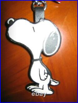 Authentic Coach X Peanuts Snoopy Red Heart Leather FOB Keychain Charm