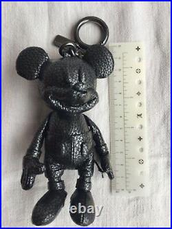 Authentic Coach x Disney Mickey Mouse leather key chain bag charm fob doll