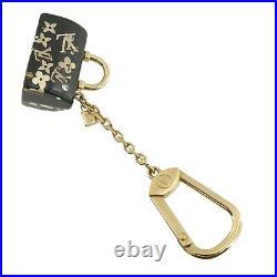 Authentic LOUIS VUITTON Porte Cles Speedy Inclusion Charm Black M65444 #f45639