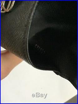 Authentic Louis Vuitton Black Multicles 6 Key Case Holder Damier Grey Graphite