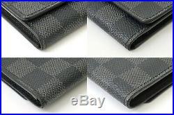 Authentic Louis Vuitton Damier Graphite Key Case Multicles 6 Stations France LV