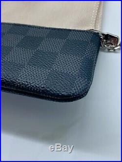 Authentic Louis Vuitton Damier Graphite Key Chain Pouch Pochette NIB Brand New