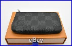 Authentic Louis Vuitton Damier Graphite Key Chain Pouch Pochette Rare 870613