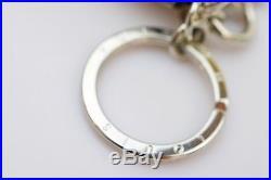 Authentic Louis Vuitton Key Ring Bag Charm Monogram Tassel Black X White 365661