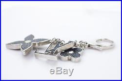 Authentic Louis Vuitton Key Ring Bijour Sac Fleur De Epi Black 361465