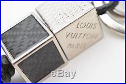Authentic Louis Vuitton Key Ring Damier Dice Black X Silver M00067 361825