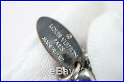 Authentic Louis Vuitton Key Ring Fleur De Epi Black X Silver 812076