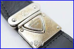 Authentic Louis Vuitton Key Ring Nomade Valet M85034 Black X Silver 370522