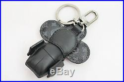 Authentic Louis Vuitton Key Ring Vivienne Doudoune Bag Charm Black 806405