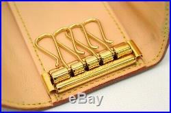 Authentic Louis Vuitton Monogram Multicolor Key Case Multicles 4 Stations Black