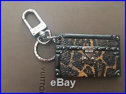 Authentic Louis Vuitton Petit Leopard Malle Bag Charm/ Key Holder