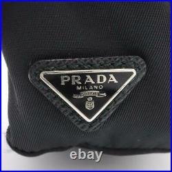Authentic PRADA Backpack type key chain 2TT061 Nylon Black Used Unisex