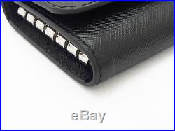 Authentic PRADA Saffiano Corner Six consecutive key case 2M0025