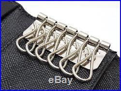 Authentic PRADA Saffiano Holder 6Key Case Keyring Key Holder