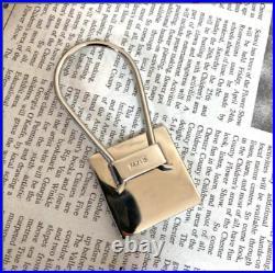Authentic PRADA key chain Keyring Key Holder Black good condition from Japan