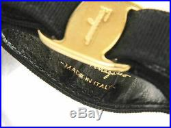 Authentic Salvatore Ferragamo Key ring Charm Black