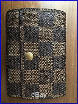 Authentic Vintage Louis Vuitton Brown Damier Key Ring Holder Wallet