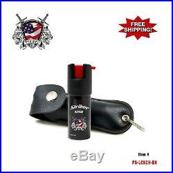 BLACK STRIKER USA. 50oz Artificial Leather Case Key Chain Pepper Spray