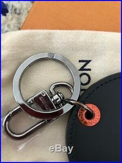 BNIB Authentic Louis Vuitton Upside-Down LV Logo Monogram Bag Charm Key Chain