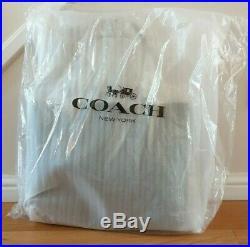 BNWT Coach Black Leather Signature Chain Central Tote RRP £375
