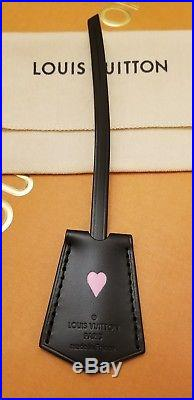 BRAND NEW! LOUIS VUITTON Key Bell Clochette Bag Charm BLACK with Strap FRANCE