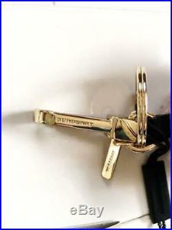 BURBERRY Thomas Bear Pink Black Color Cashmere Knit Key Ring Key Chain Bag Charm