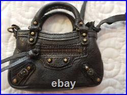 Balenciaga 10 year Anniversary miniature purse charm coin purse black