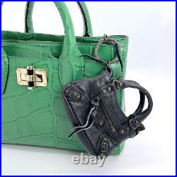 Balenciaga Authentic Limited Ed 10th Anniv 10 Mini First Bag Key Chain Bag Tare
