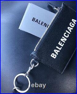 Balenciaga Key Chain Wallet Black Brand New