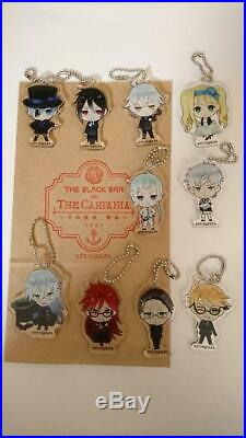 Black Butler Cafe & Bar Acrylic Key Chain Complete set from JAPAN