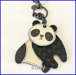 Bottega Veneta 523439 Intrecciato Leather Panda Bear Key Ring Bag Charm