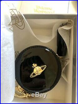 Brand New Vivienne Westwood Key Chain Coin Bag Black Gold