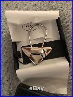 Brand New in Box Prada Black Triangle Keychain