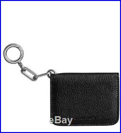 Burberry Camberwell Leather ID & Card Case Black Unisex Wallet Keychain $350