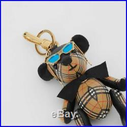Burberry Thomas Bear Leather Bag Charm in Sunglasses Bow Key Fob NWT NIB