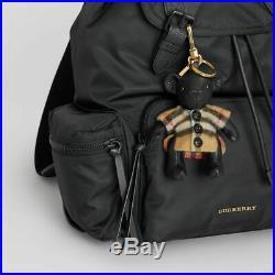 Burberry Thomas Bear Leather Bag Charm in Vintage Check Poncho Key Fob NWT NIB