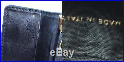 CHANEL CC Logos Key Case 6 Ring Black Caviar Skin Leather Vintage Auth #H460 M